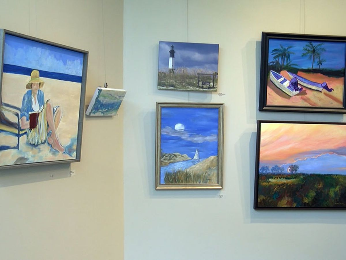Local art on display at the Savannah/Hilton Head International Airport