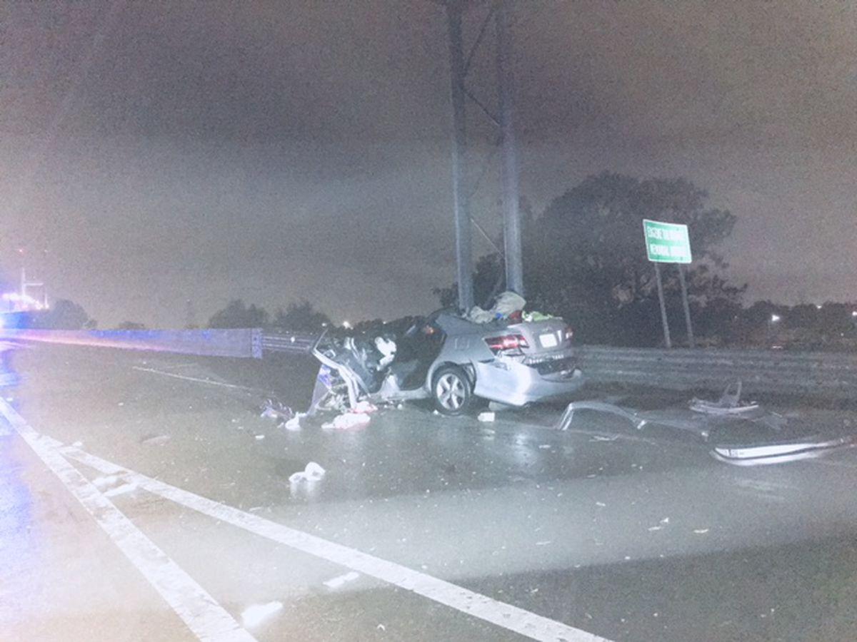 Man seriously injured in single-vehicle crash near Talmadge Bridge