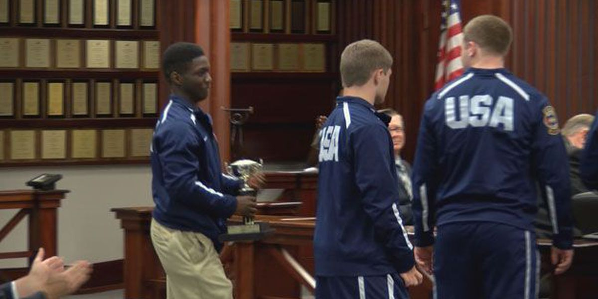 Weightlifting champs honored at Chatham County Commission