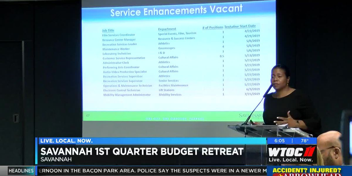 1st Quarter Budget Retreat held in Savannah