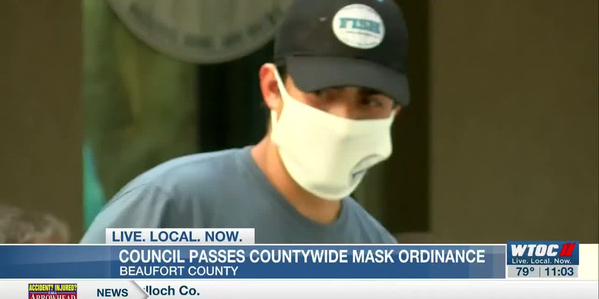 Beaufort County Council passes ordinance requiring masks