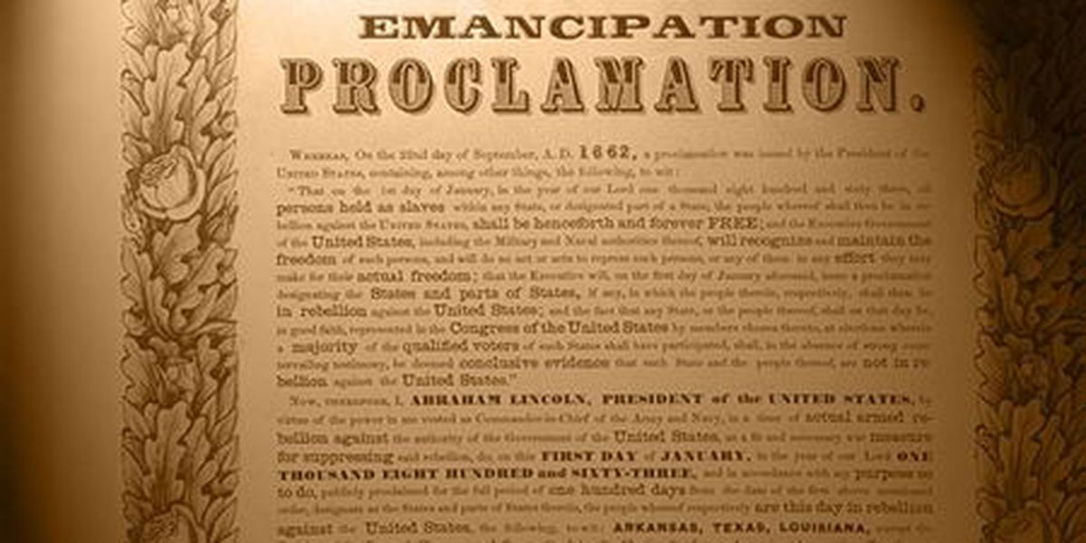 Emancipation Proclamation reading being held Tuesday