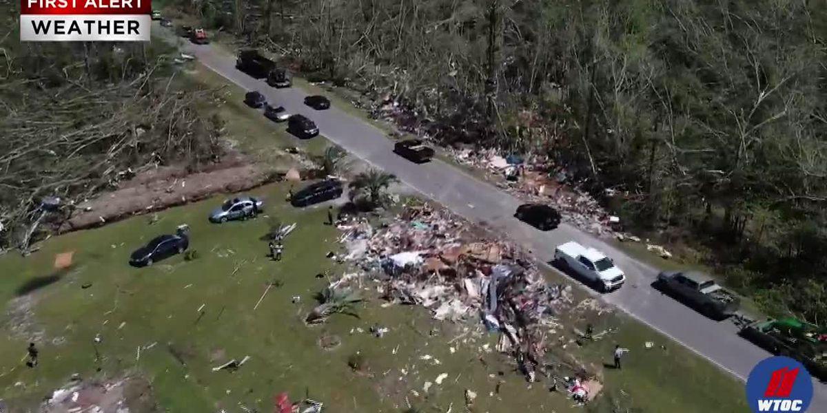 NWS upgrades tornado that tore through Hampton Co. to an EF-4