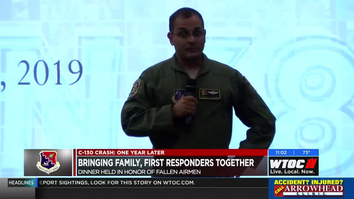 Bringing family, first responders together to remember airmen lost in C-130 crash