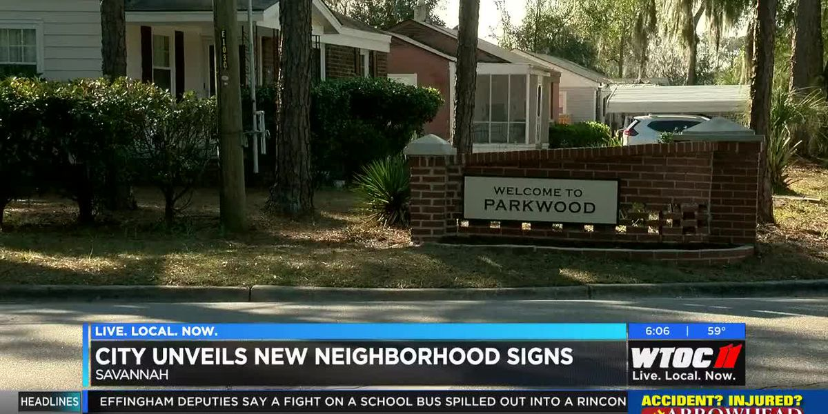 City of Savannah unveils new neighborhood signs