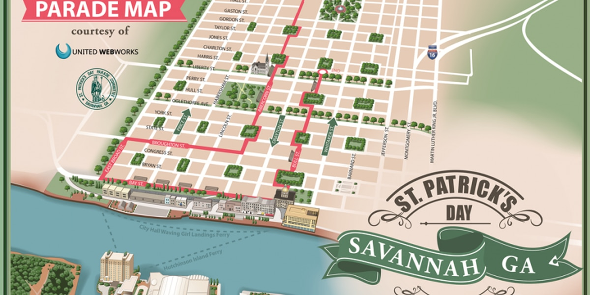 2018 Savannah St. Patrick's Day Parade Route