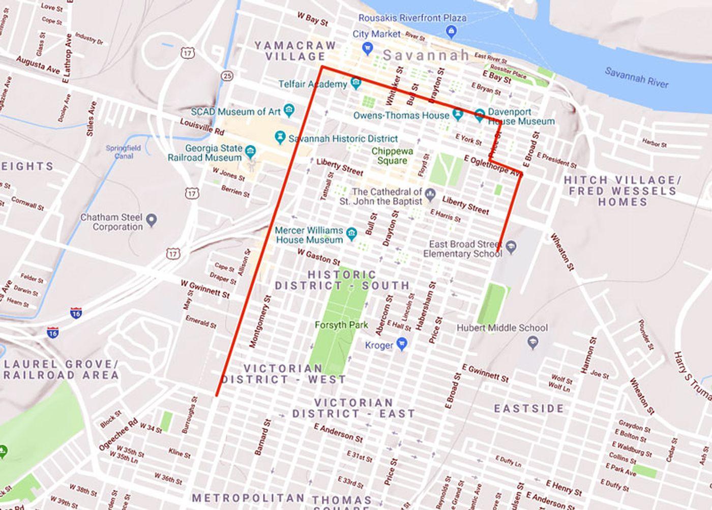 Savannah State Map.Savannah State Homecoming Parade To Impact Downtown Traffic Saturday