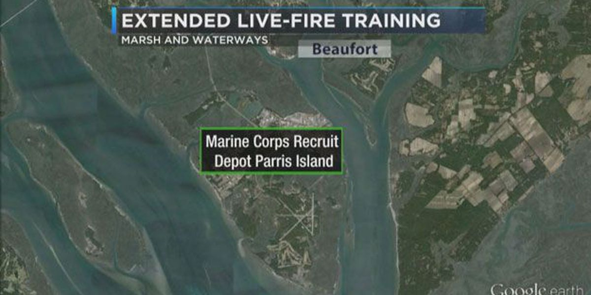 Live fire training on Parris Island