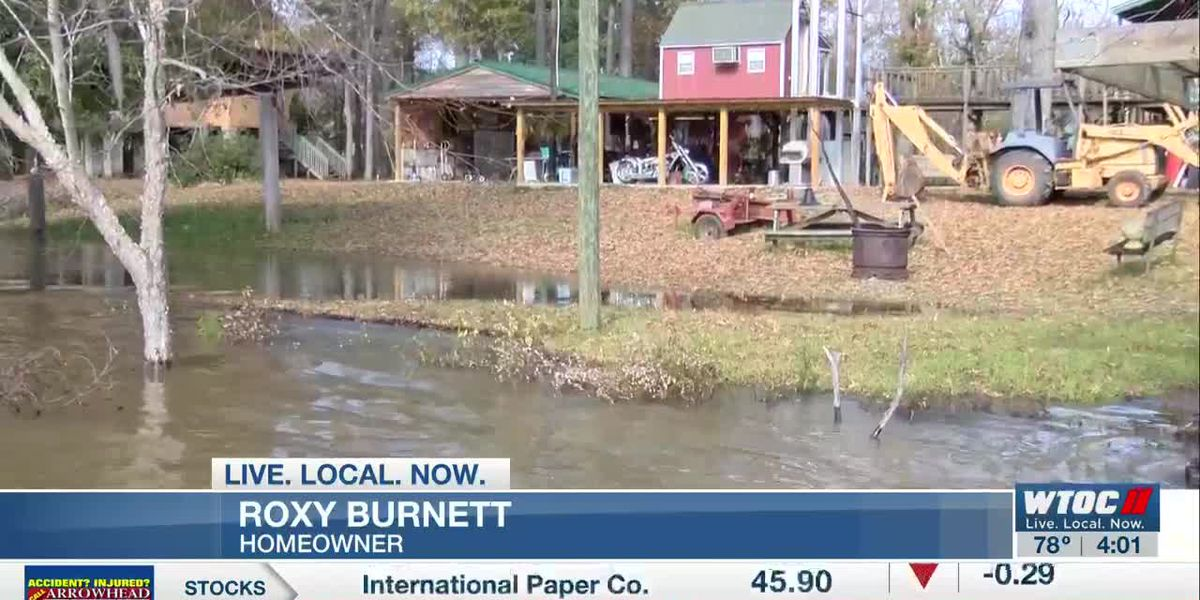 Altamaha River residents watching riverbanks as rain causes it to rise