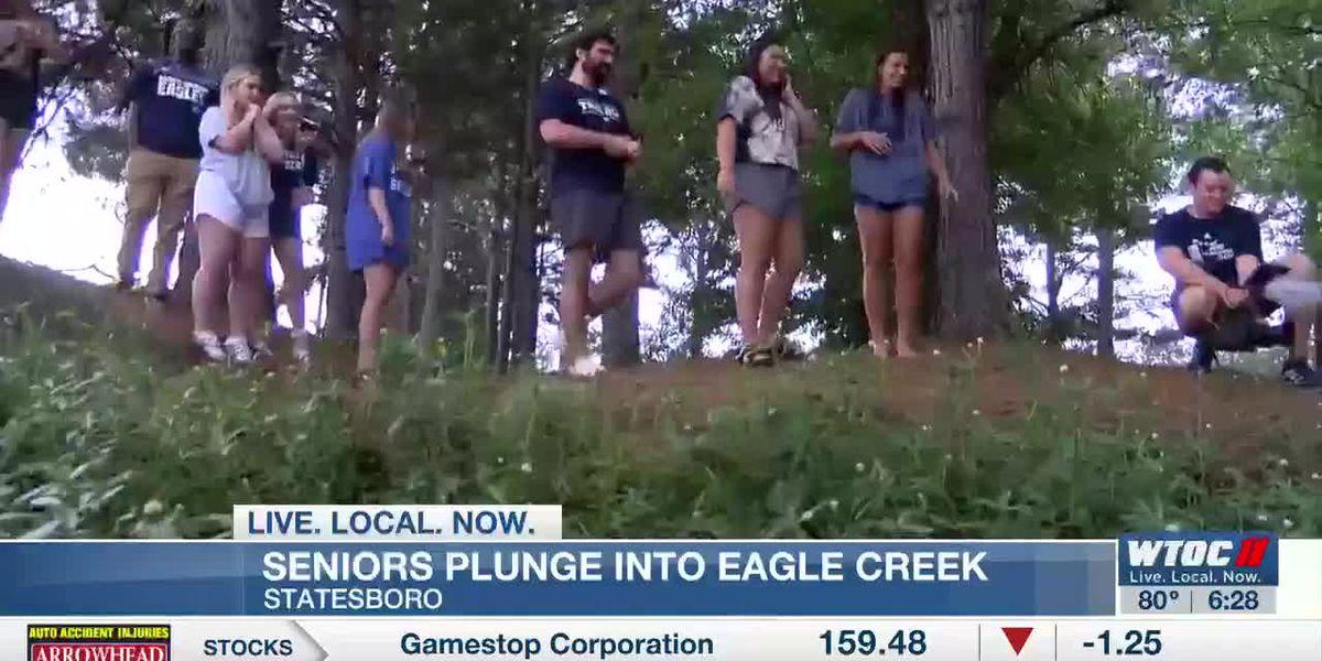Seniors plunge into 'Beautiful Eagle Creek'