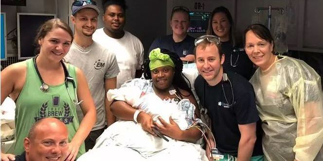 NC mother gives birth in mobile hospital due to Florence's floodwaters