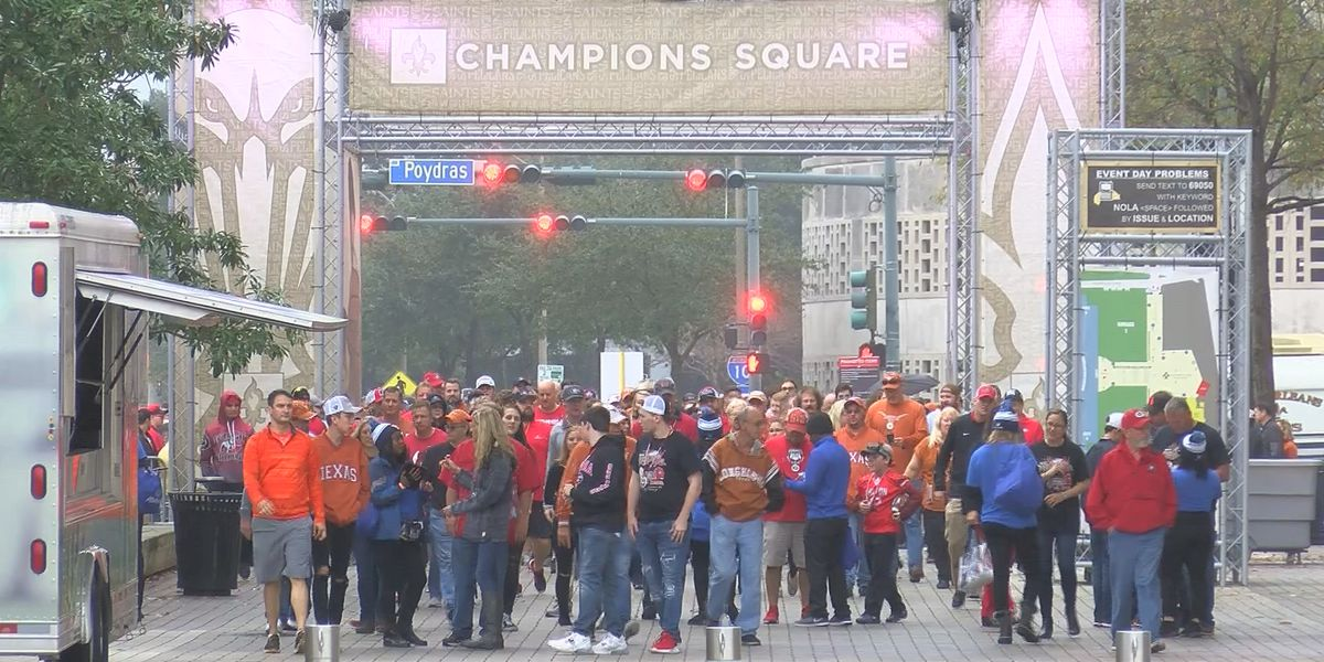 Texas, Georgia fans enjoy New Orleans Sugar Bowl 2019