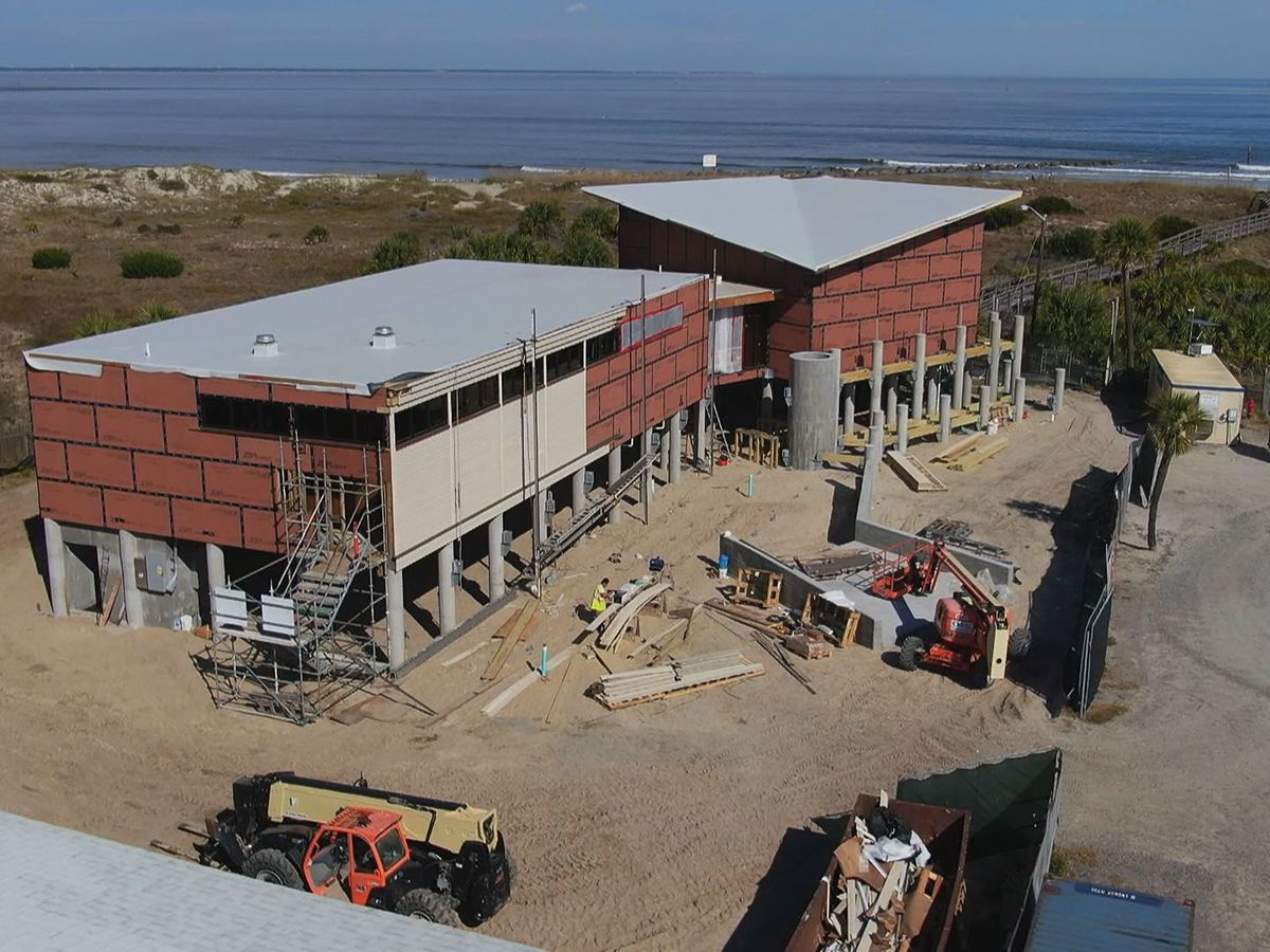 Construction making progress on new Marine Science Center