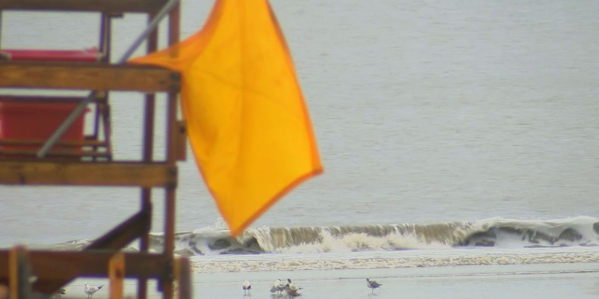 Safety precautions for rough water at HHI beaches