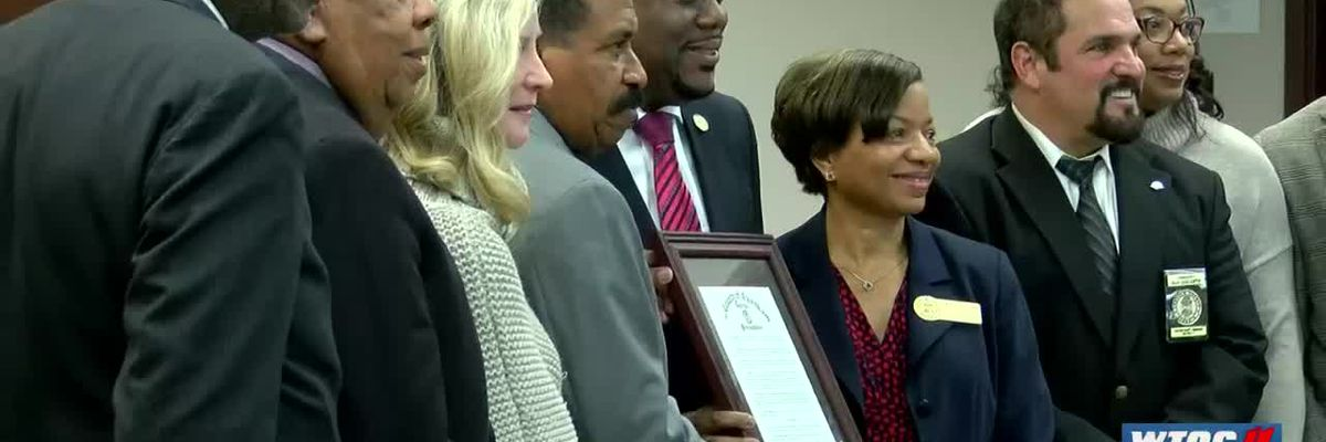 Mayor Van Johnson honored at last commission meeting as county employee
