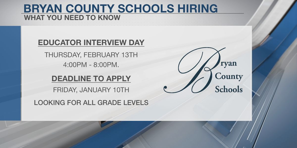 Bryan County School District looking to hire more teachers