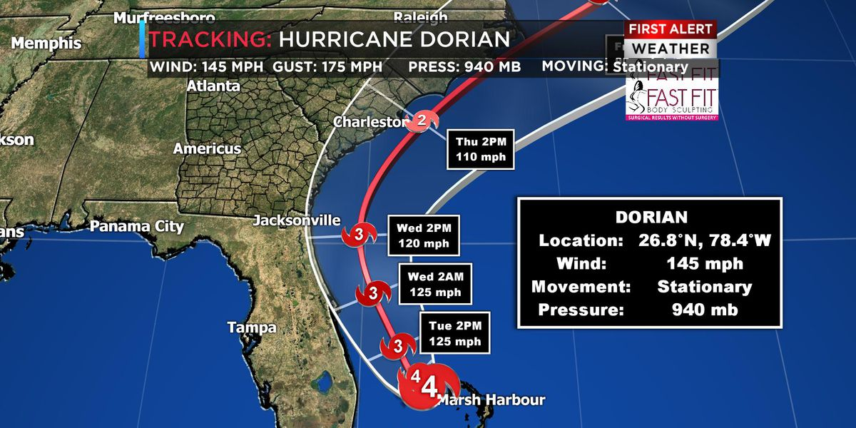 Tracking Dorian: Hurricane watch issued for coastal Ga., S.C. counties