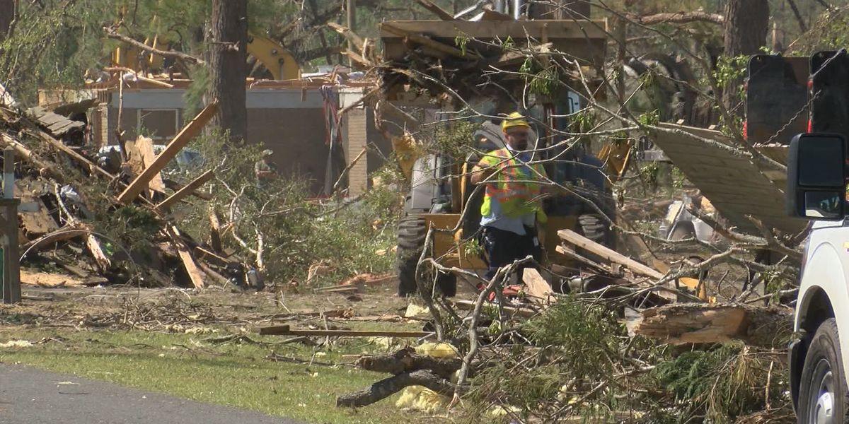 NWS surveying Hampton Co. tornado damage