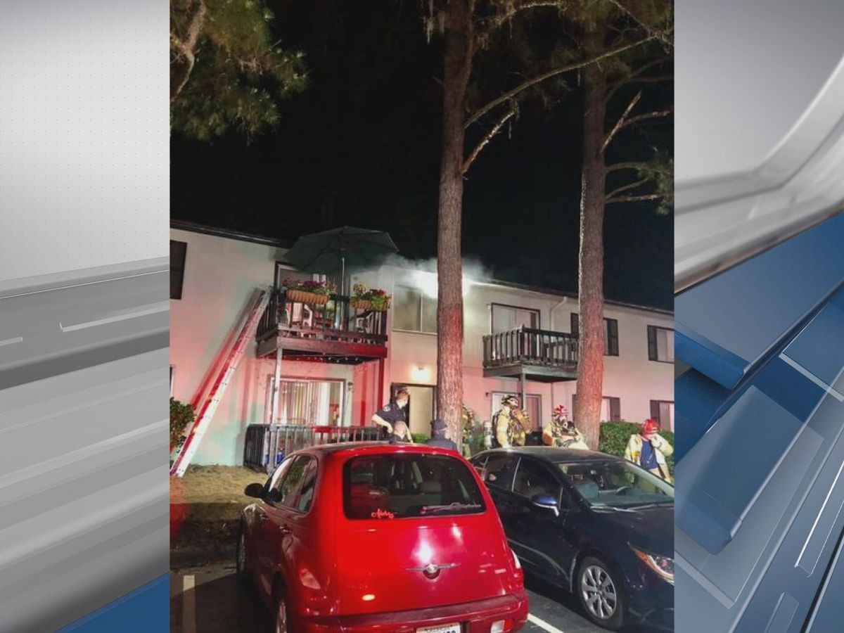 Savannah Fire rescues residents from balcony during a fire in an Abercorn St. apartment
