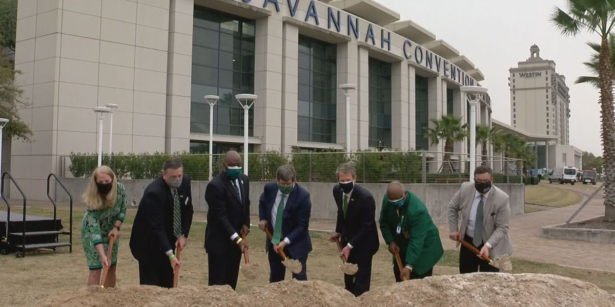 Groundbreaking ceremony held for expansion of the Savannah Convention Center