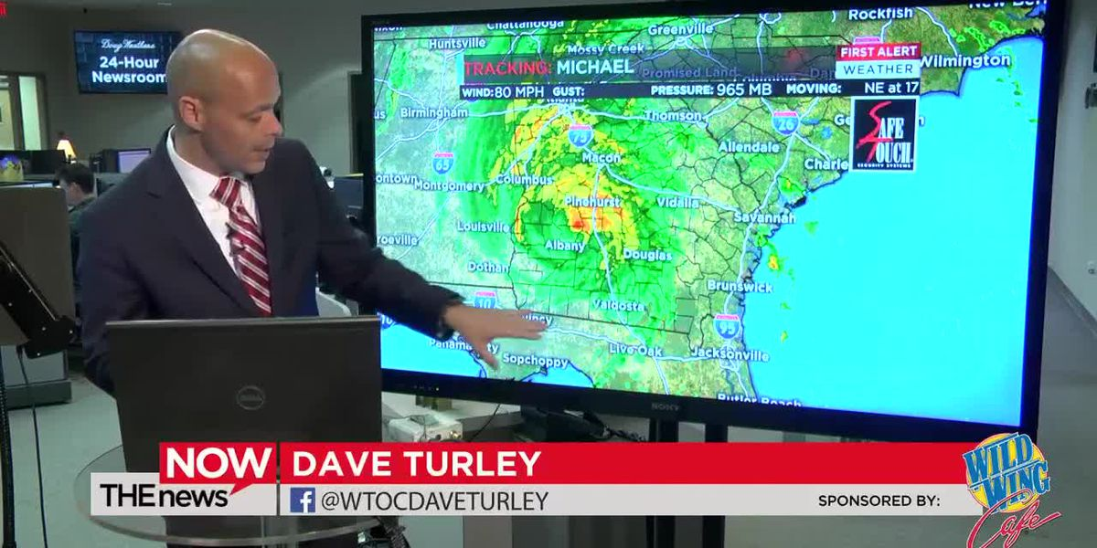 Join Dave Turley for the latest on Hurricane Michael at 10 p.m. on Wednesday.