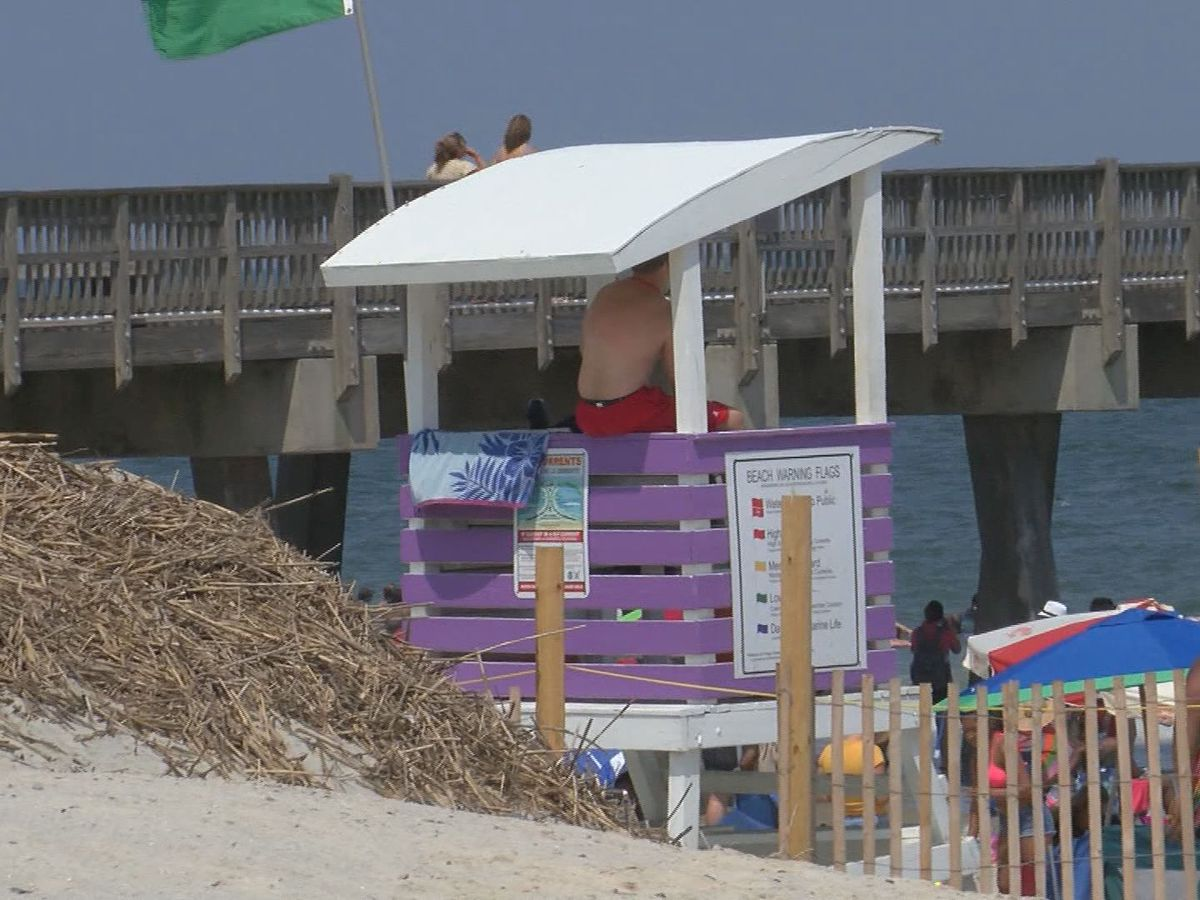 End of lifeguard season at Tybee Island