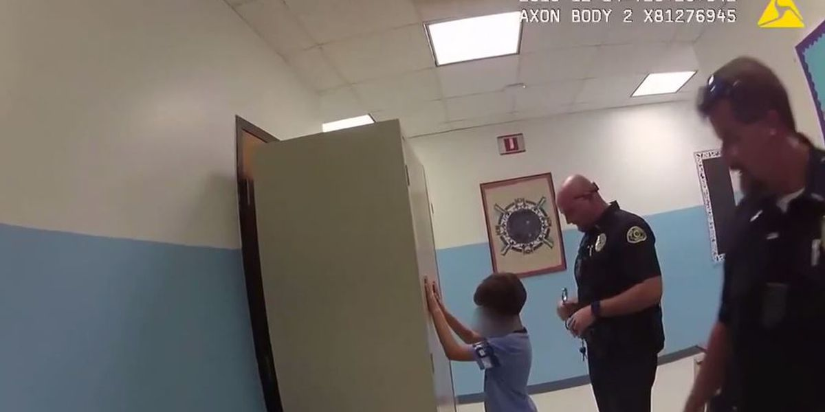 Police video shows officer trying to handcuff young boy at Florida school