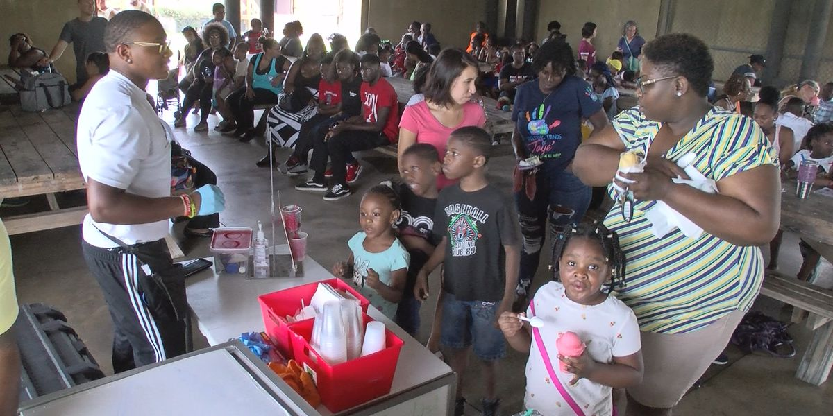 Back to school giveaway held at Lake Mayer