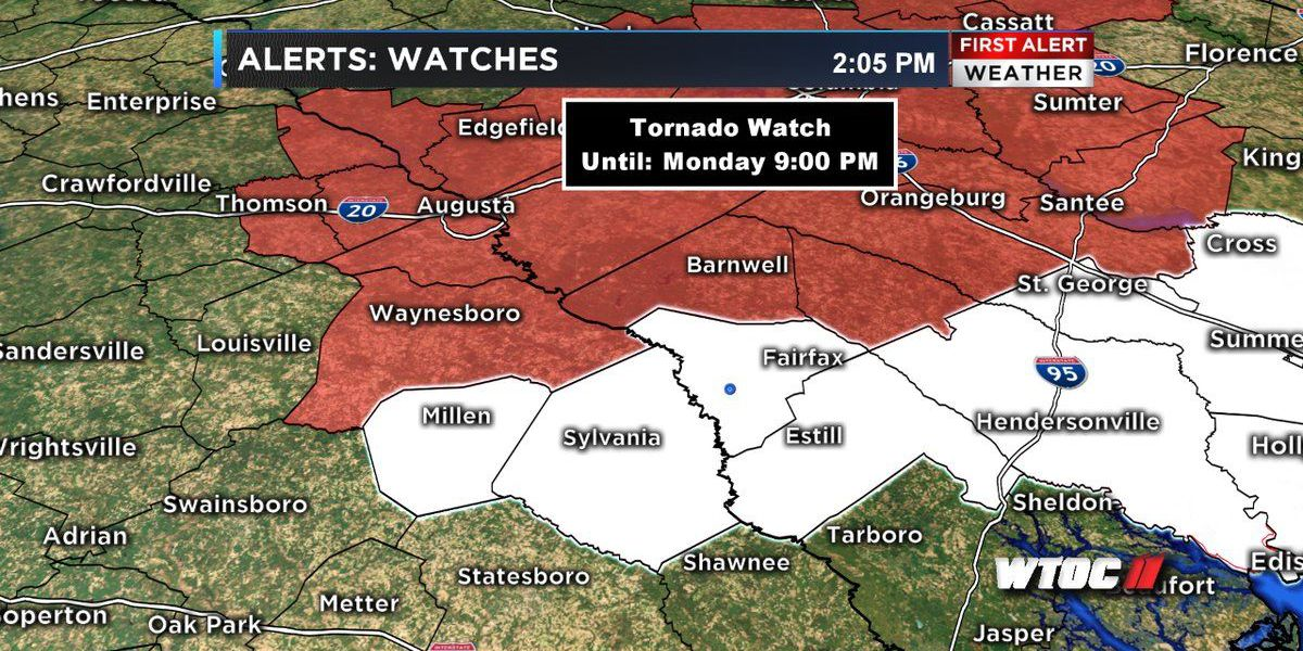 First Alert Weather Day: Tornado Watch canceled for portions of the Coastal Empire, Lowcountry