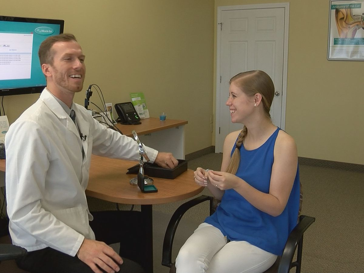 Free hearing aids help Savannah bride hear again