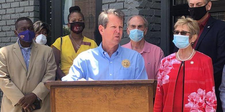 Kemp makes stops in SWGA on coronavirus flyaround tour