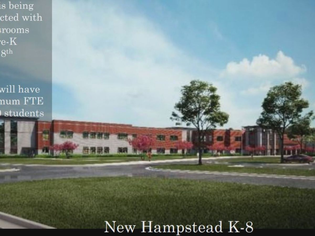 Redistricting plan needed for New Hampstead K-8 school