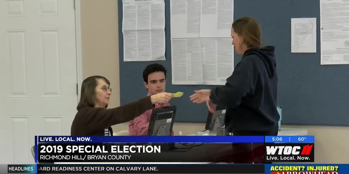 2019 Special Elections; Richmond Hill, Bryan County