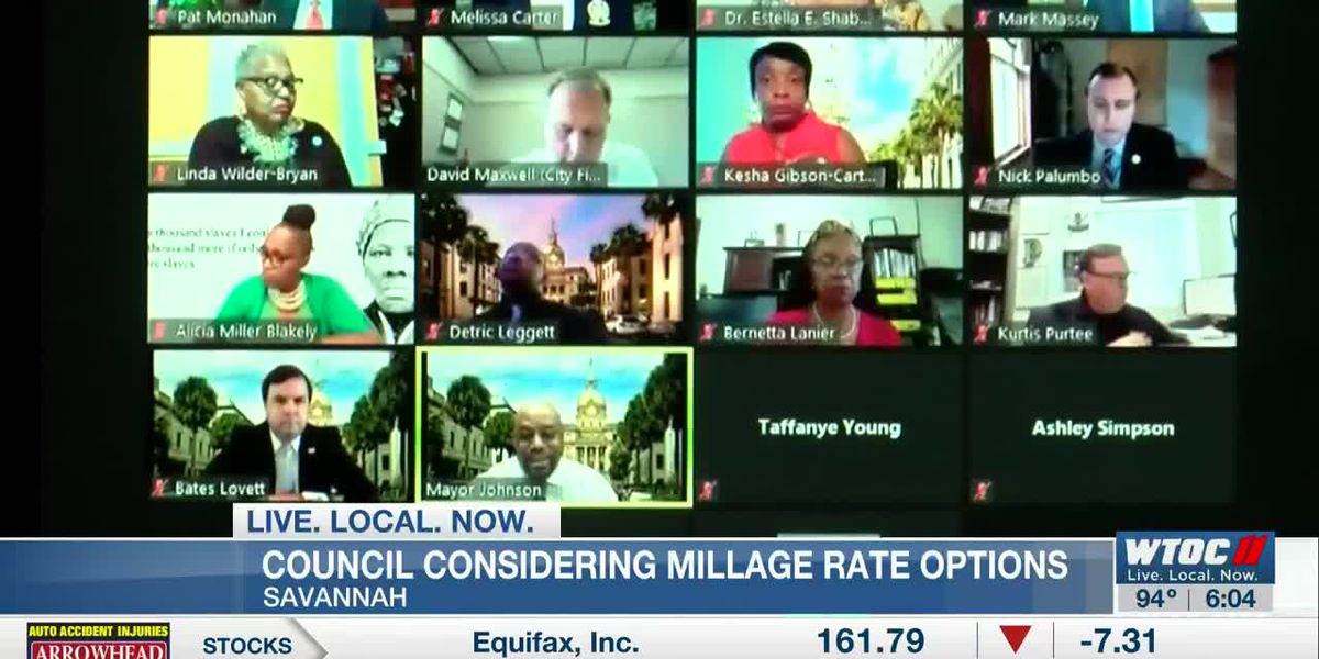 Savannah city council considering millage rate options