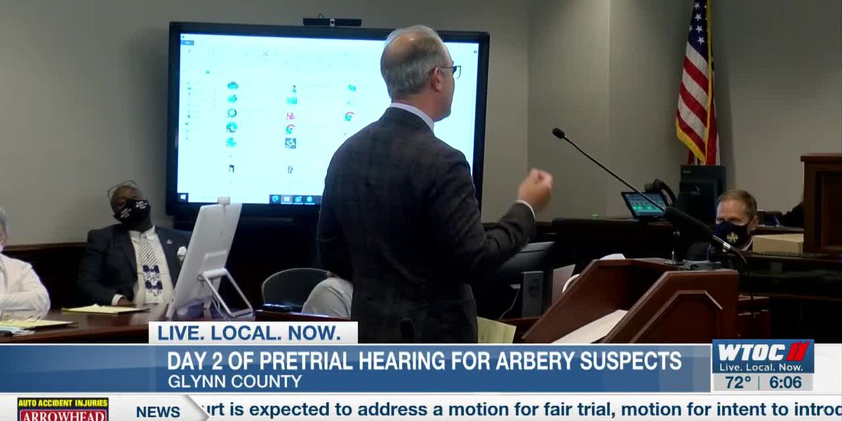 Judge will review motions made during Arbery case hearing