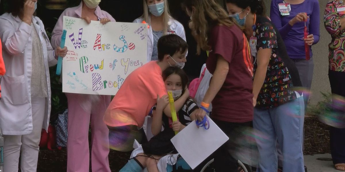 SC 8-year-old injured in tornado gets released from hospital with special sendoff