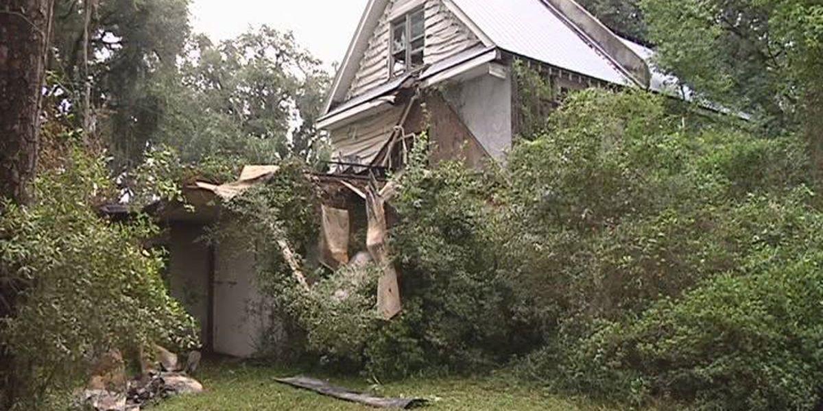 Fire destroys house on Whitemarsh Island
