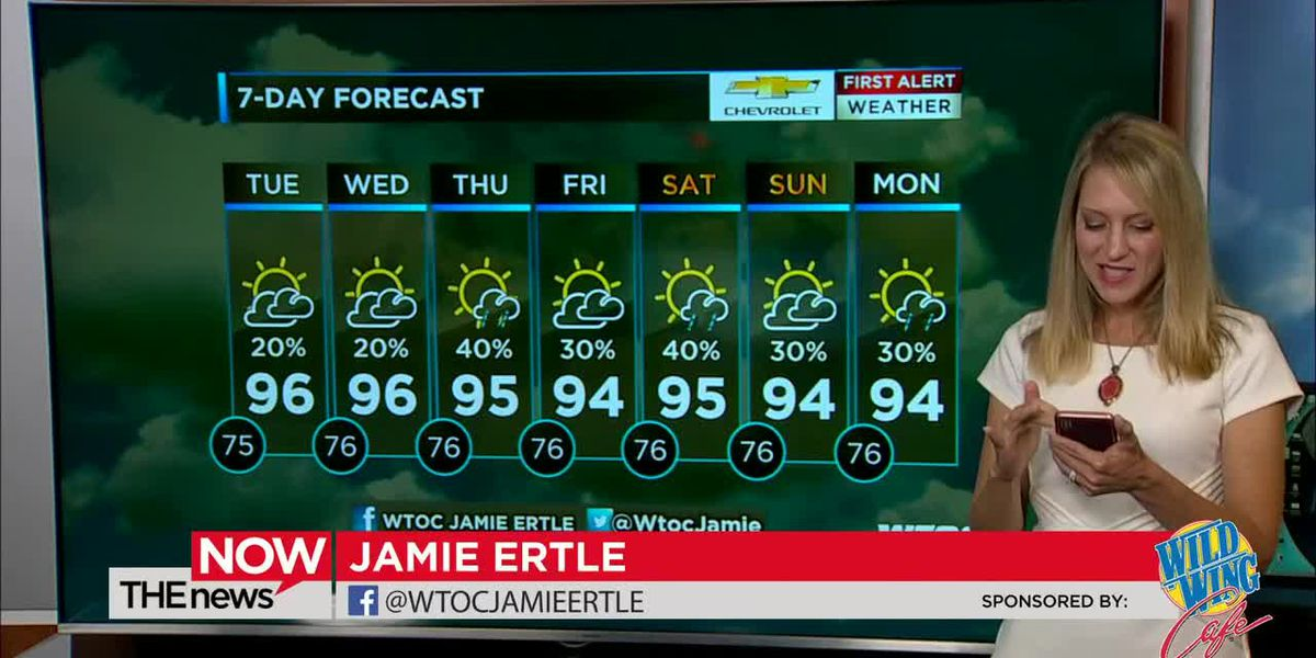 Some of us will hit 100 degrees tomorrow! Will it be you? Jamie Ertle's got your First Alert Forecast on The News Now.