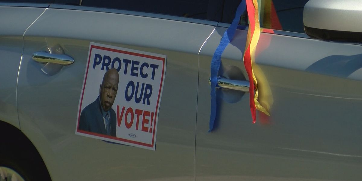 Voting rights activists honor memory of John Lewis with 'votercades' across Coastal Georgia