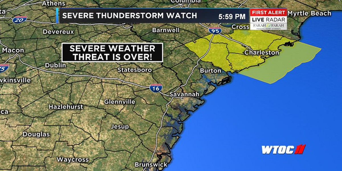 Severe thunderstorm watch for Sunday canceled