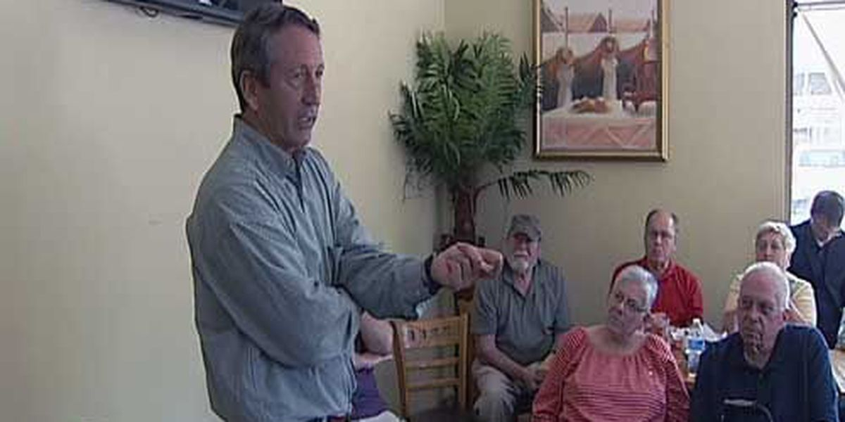 Rep. Mark Sanford speaking to constituents across the Lowcountry on Thursday