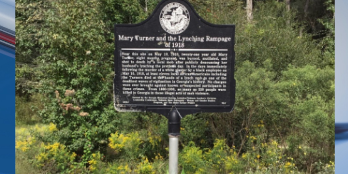 Mary Turner lynching marker removed after recent vandalism