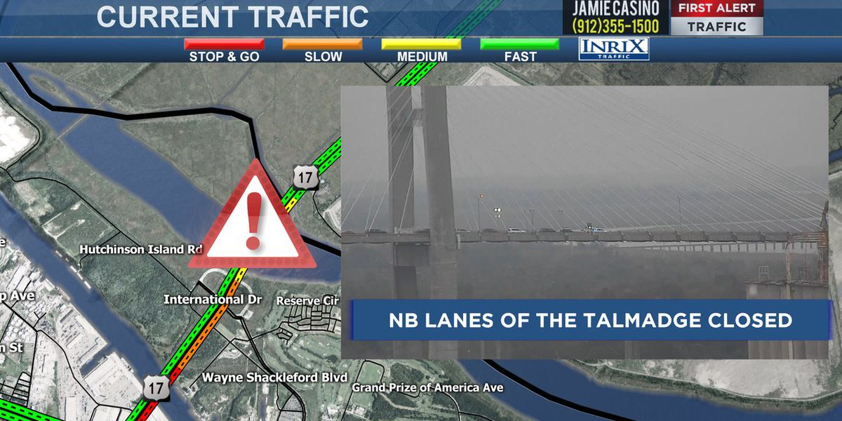 NB Talmadge Bridge closed after crash involving semi-track