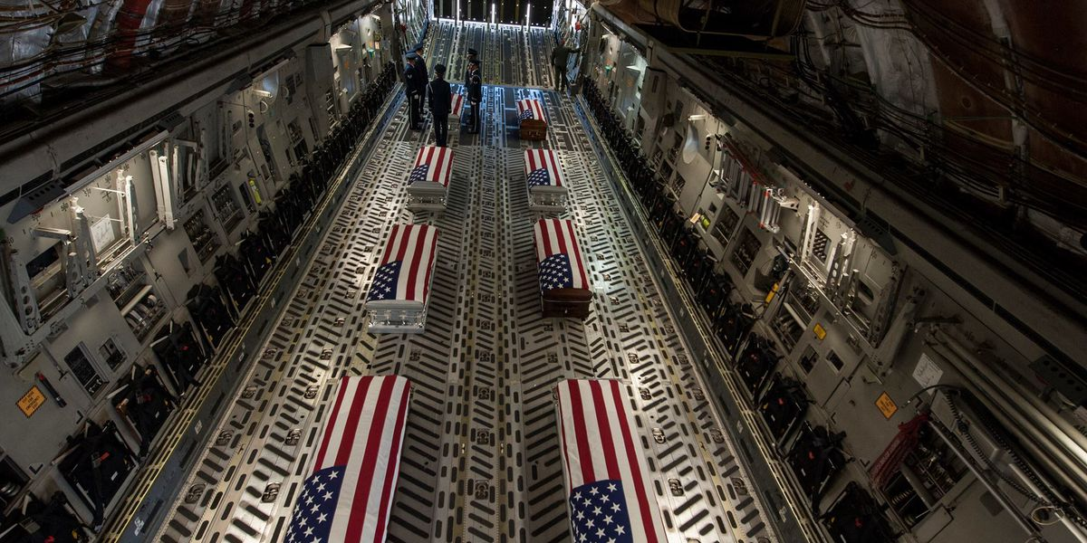 Puerto Rican airmen's bodies receive dignified arrival home