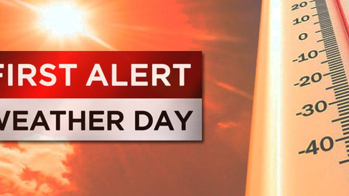First Alert Weather Day: Heat index values may top 106° Monday