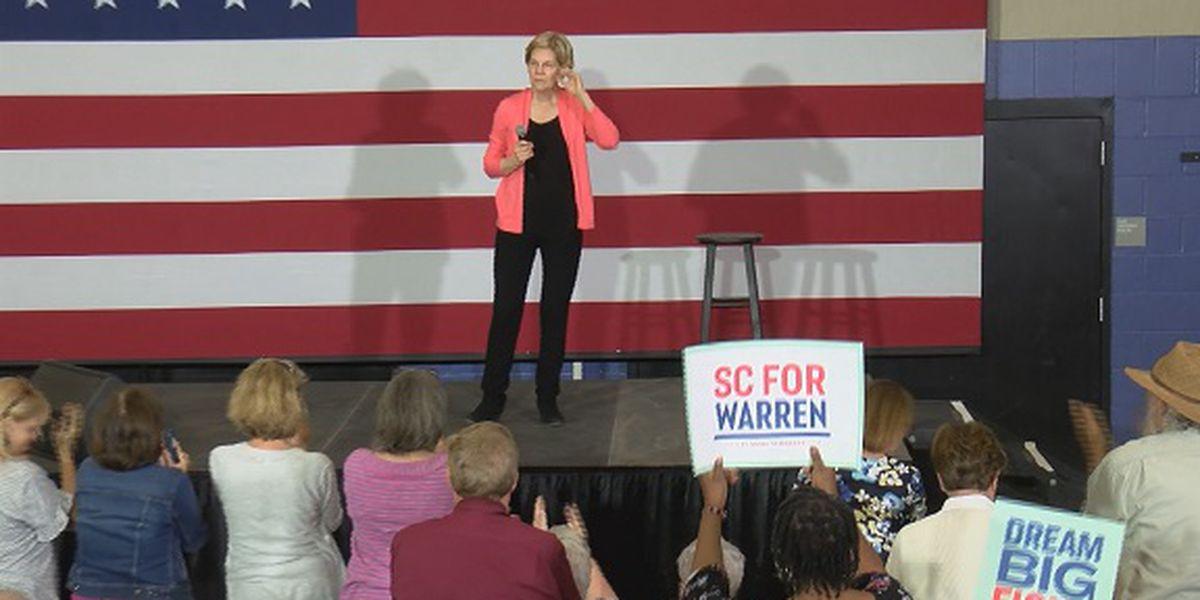 U.S. Senator Elizabeth Warren campaigns in Lowcountry