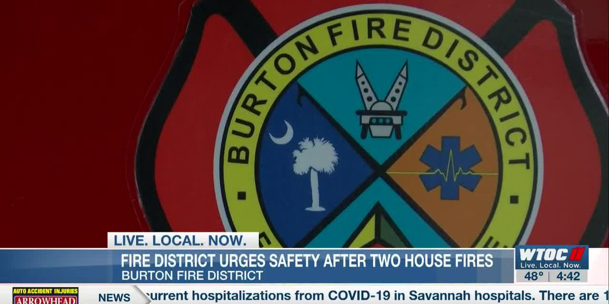 Burton Fire urging safety after 2 house fires
