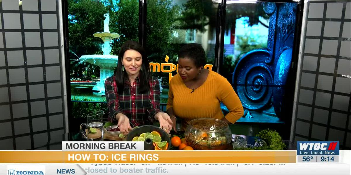 How to make Holiday Ice Rings