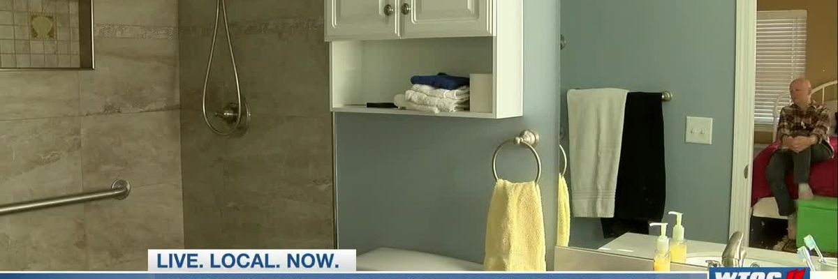 Community helps remodel bathroom for Brunswick couple