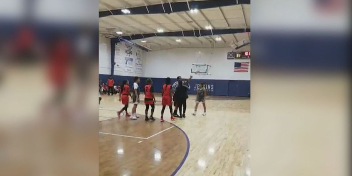 Apology issued after melee caught on video at girl's basketball game